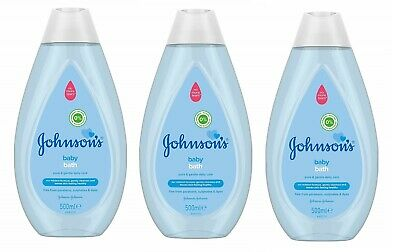 3x Johnson's Baby Bath 500ml no more tears everyday gentle cleansing