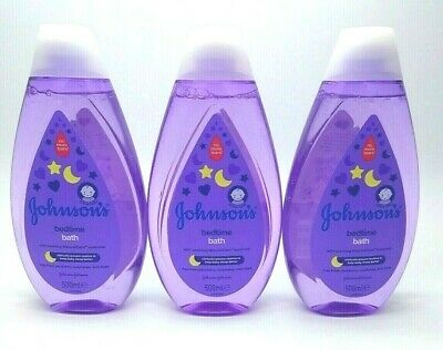 3x Johnson's Baby Bedtime Bath 500ml no more tears everyday gentle cleansing