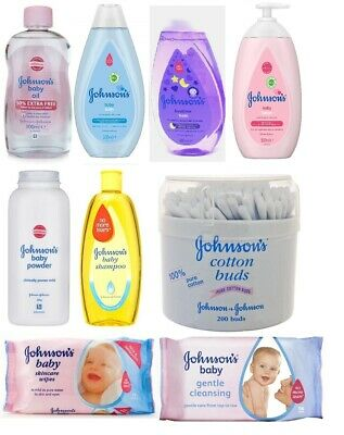 Johnsons Multi Pack- One each of Bath, Lotion, Shampoo, Powder, Oil, Buds, Wipes