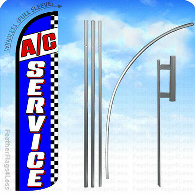 WINDLESS Swooper Feather Banner Sign Flag 15' KIT - A/C SERVICE bz