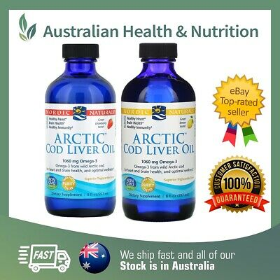 Nordic Naturals Arctic Cod Liver Oil 237Ml Highest Quality + Free Shipping