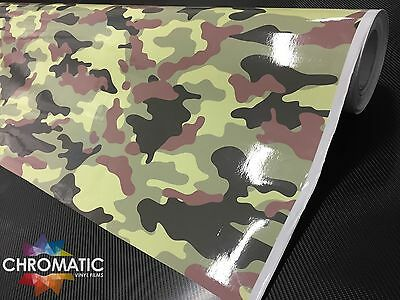 Green Camouflage Vinyl 1.52 x 2m - Bubble Free Camo Car Wrap Sticker Foile Film