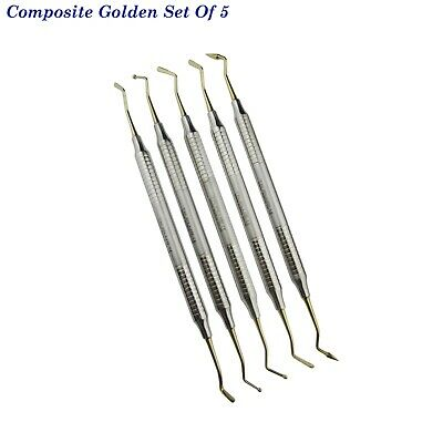 Plugger spatula modelling composite instruments for restorative dental Set of 5