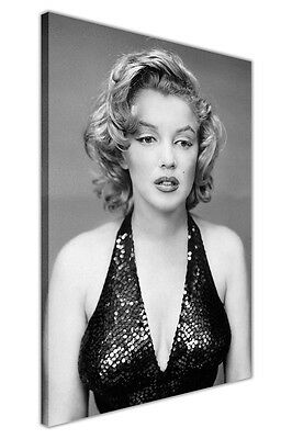 Marilyn Monroe Black Evening Dress Canvas Wall Art Prints Framed Poster Pictures
