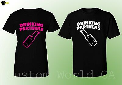 Couple T-Shirt Drinking Partners  Matching Shirts His and Hers Drinking Together