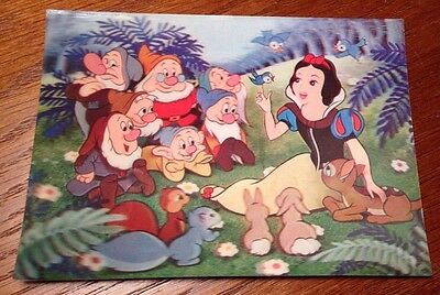 Vintage Snow White and the Seven Dwarfs Lenticular 3D Postcard