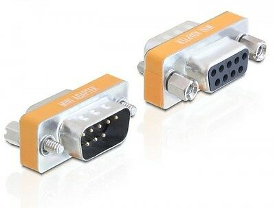 delock nullmodem adapter rs232 sub-d 9 pin stecker male an buchse female