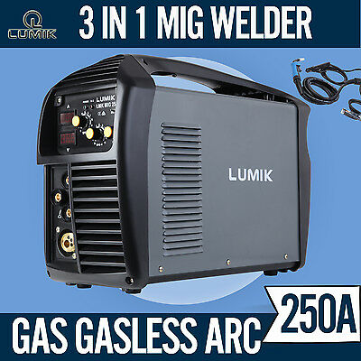 NEW 250 Amp MIG ARC Gas/Gasless Portable Welder Welding Machine MAG