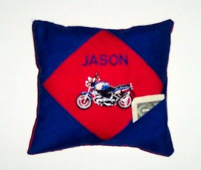 PERSONALIZED tooth fairy pillow - MOTORCYCLE!