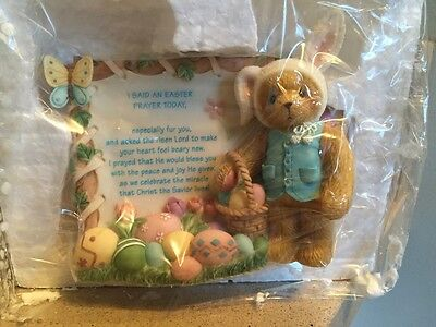 Cherished Teddies Easter Plaque 726664 Abbey Press Exclusive MIB