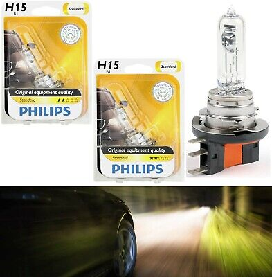 Philips Standard H15 15/55W Two Bulbs Head Light DRL Daytime High Beam Replace