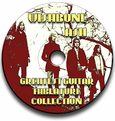 Wishbone Ash Rock Guitar Tab Tablature Song Book Software Cd