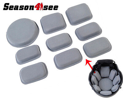 Universal Tactical Helmet Protection Pad Kit Set for FMA MICH Fast Helmet Gray