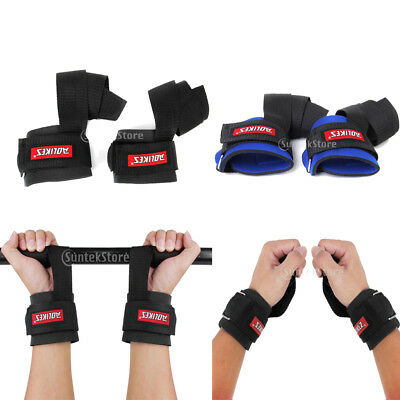 Weight Lifting Strength Training Gym Straps Gloves Hand Wrist Bar Support Wraps
