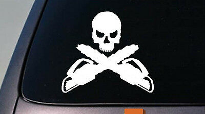 Logger's Crossbones Decal sticker - *A011* arborist forestry chainsaw tree axe