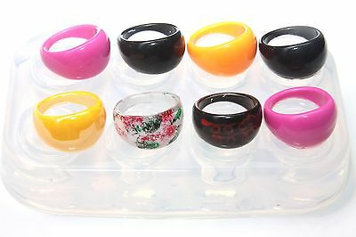 Clear handmade Silicone Mold for 8 Ring ,size  9  (168) Free USA Shipping.
