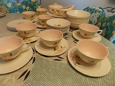 Edwin Knowles Styled by Kalla Blossom Time Dinnerware Set 46 pc Dinner Set