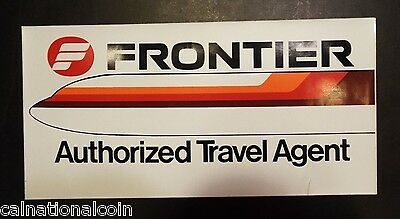 Frontier Airlines Authorized Travel Agent Vintage Decal