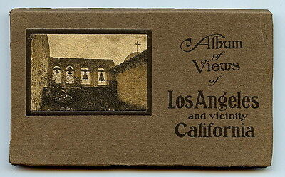 Views of LOS ANGELES, CALIFORNIA PHOTO ALBUM   1919 with 24 RPPC in NF Cond