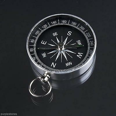Emergency Survival Outdoor Camping Hiking Jungle Travel Compass with Key Ring