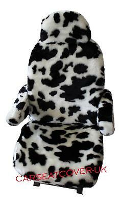 Fiat Ducato Luxury Motorhome Seat Covers - Cow Faux Fur + Armrest Covers