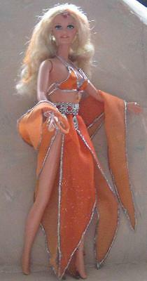 Sunrise Silver~Orange & Silver Bellydancer Belly Dancer Doll~OOAK Barbie Repaint