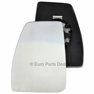 Left passenger side heated plate wing mirror glass for Ford Transit Custom 12+
