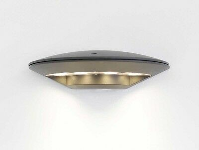 Design Wandlampe Ubbo IP44 LED warmweiß 4x1W  dunkelgrau