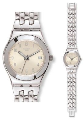 Swatch Irony Medium Follow Ways Cream YLS441G Analog  Edelstahl Silber
