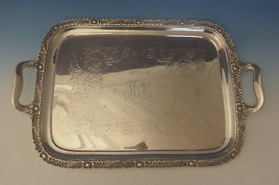 """Chrysanthemum by Tiffany and Co Sterling Silver Tea Tray 27"""" X 21"""" (#0187)"""