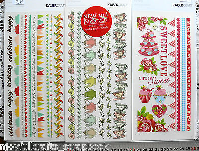 RUB-ONS Tea Party - Lil Primrose - Save the Date 210x110mm KaisercraftMultiLstL6