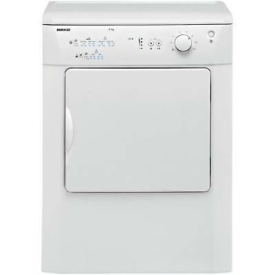 Beko DRVT61W 60cm 6Kg 2 Temps Vented Tumble Dryer with Reverse Action in White