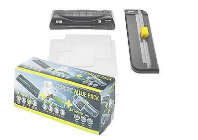 Texet Hot Laminating Machine With Laminator Pouches & A4 Cutter Trimmer Set