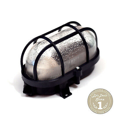 Vintage Bulkhead Light Caged Industrial Lamp, OLD SOVIET Style, IP53, NEW!!!
