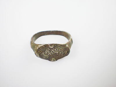 Superb ANCIENT RARE Viking Silver FINGER RING  Signet  ca 8 - 10 century AD #1