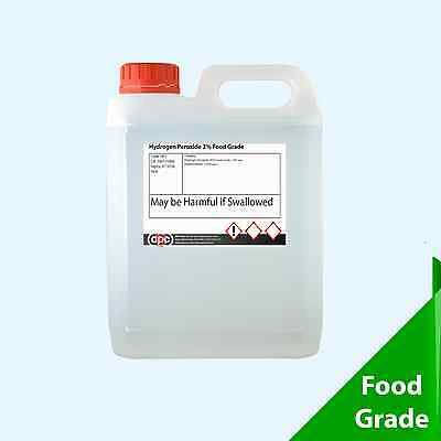 Food Grade Hydrogen Peroxide 3% 5 Litre (5L) **Manufactured by Professionals**