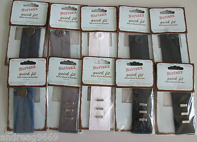 Waist Extenders Waistband Expanders Hook And Bar Or Button No Sewing 6 Colours