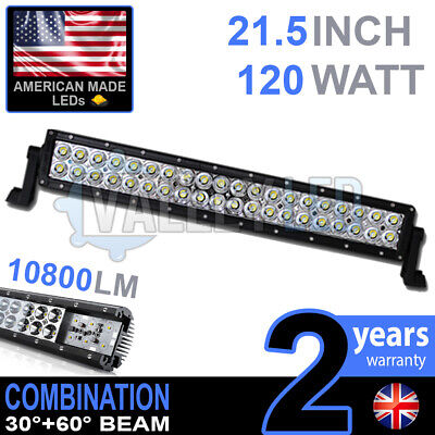 """20"""" 120w Cree LED Light Bar Combo IP68 XBD Driving Light Alloy Off Road 4WD Boat"""