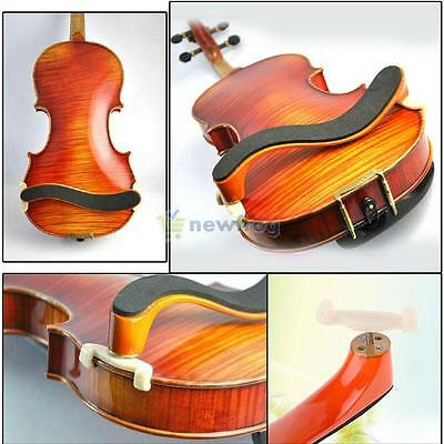 Premium Adjustable Violin Viola Maple Wood Wooden Shoulder Rest Pad Size 4/4 3/4