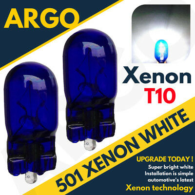 2x XENON GAS BRIGHT WHITE NUMBER PLATE LICENCE UPGRADE LIGHT LAMP BULBS