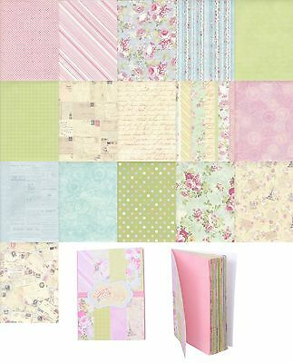Vintage Look 32 Sheets Wedding Gift Scrapbooking Wrapping Paper Book Style A