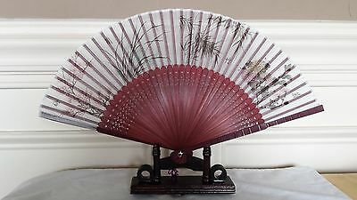 High Quality Four Season 9 inches Silk and bamboo Hand Fan US Seller