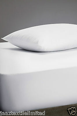 """16"""" Inches Extra Deep Fitted Sheet 100% Egyptian Percale Quality Cotton All Size"""