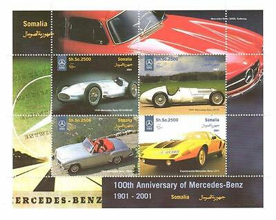 100th ANNIVERSARY OF MERCEDES BENZ CLASSIC CAR AUTOMOBILE MNH STAMP SHEETLET