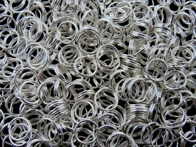 6mm Silver Plated Jewellery Split Rings Findings Craft Connector Beading ML