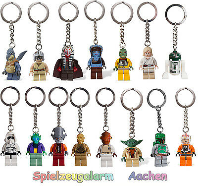LEGO STAR WARS Schlüsselanhänger Key Chain Luke Skywalker Aayla Secura Wicket