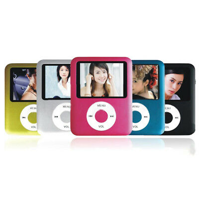 MP3 PLAYER 4GB MP4 LETTORE 8GB 16GB 32GB AUDIO VIDEO FOTO RADIO FM DIVX qw