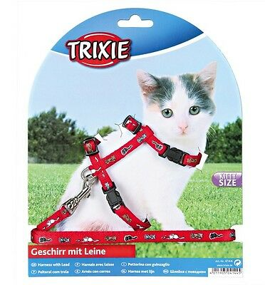 Harness and Lead Set For Kittens Sm Cats Collar TRIXIE 4144 • EUR 6,57