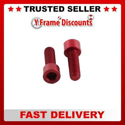 One23 Alloy Bolts Coloured Cheese Head (4) Red