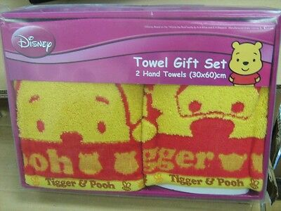 Disney Winnie the Pooh+Tigger Towel Gift Set of 2 NEW